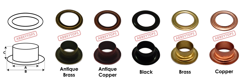 Abbeytops Eyelet with Washer Leather Craft Repair Grommet 3mm 4mm 5mm 6mm 8mm 10mm 12mm /& 14mm 14mm, Copper